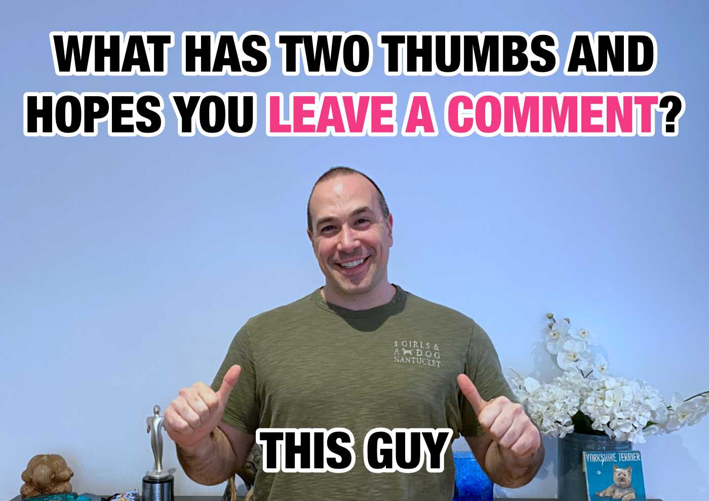 What has two thumbs and hopes you leave a comment? This Guy! (Ben Nadel).