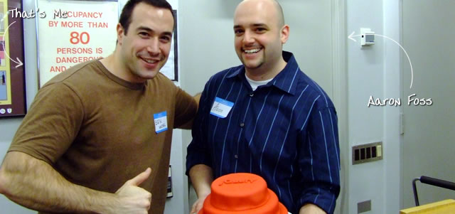 Ben Nadel at the New York ColdFusion User Group (Feb. 2009) with: Aaron Foss