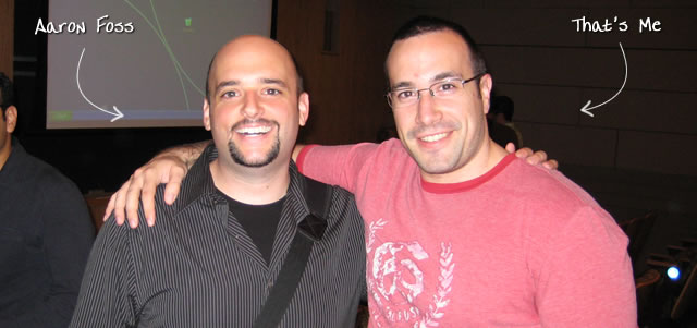 Ben Nadel at the New York ColdFusion User Group (Sep. 2009) with: Aaron Foss