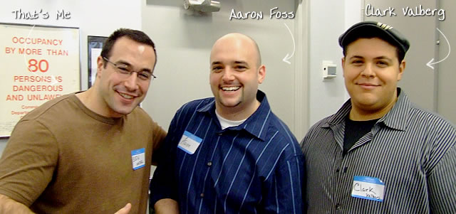 Ben Nadel at the New York ColdFusion User Group (Feb. 2009) with: Aaron Foss and Clark Valberg