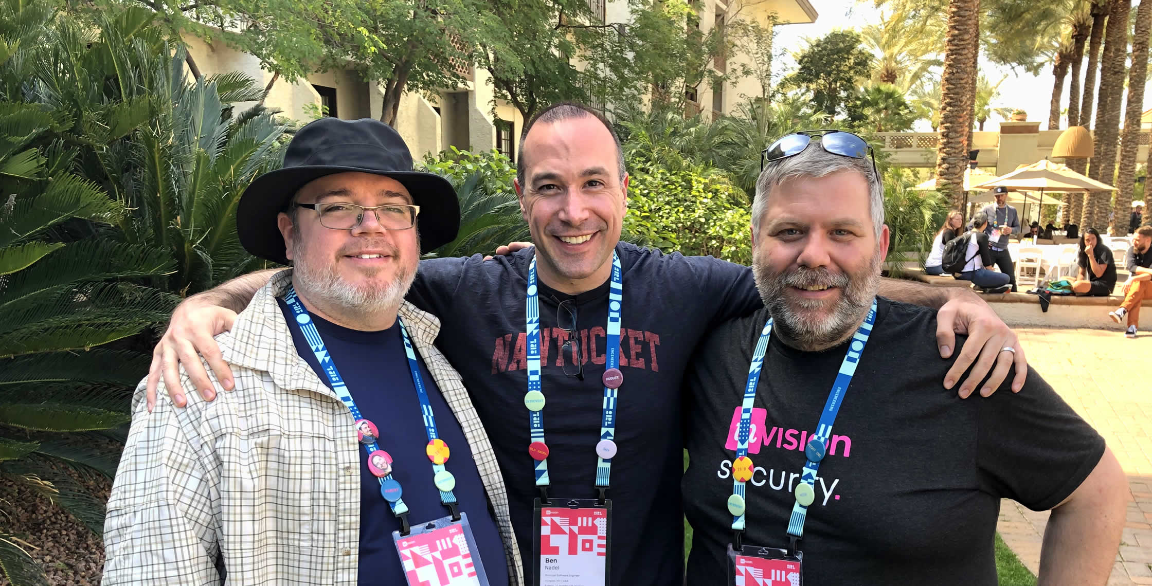 Ben Nadel at InVision In Real Life (IRL) 2019 (Phoenix, AZ) with: Aaron Grewell and David Epler