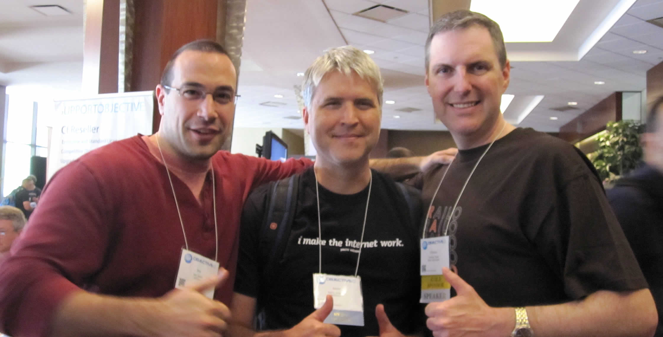 Ben Nadel at cf.Objective() 2012 (Minneapolis, MN) with: Aaron Longnion and Christian Ready