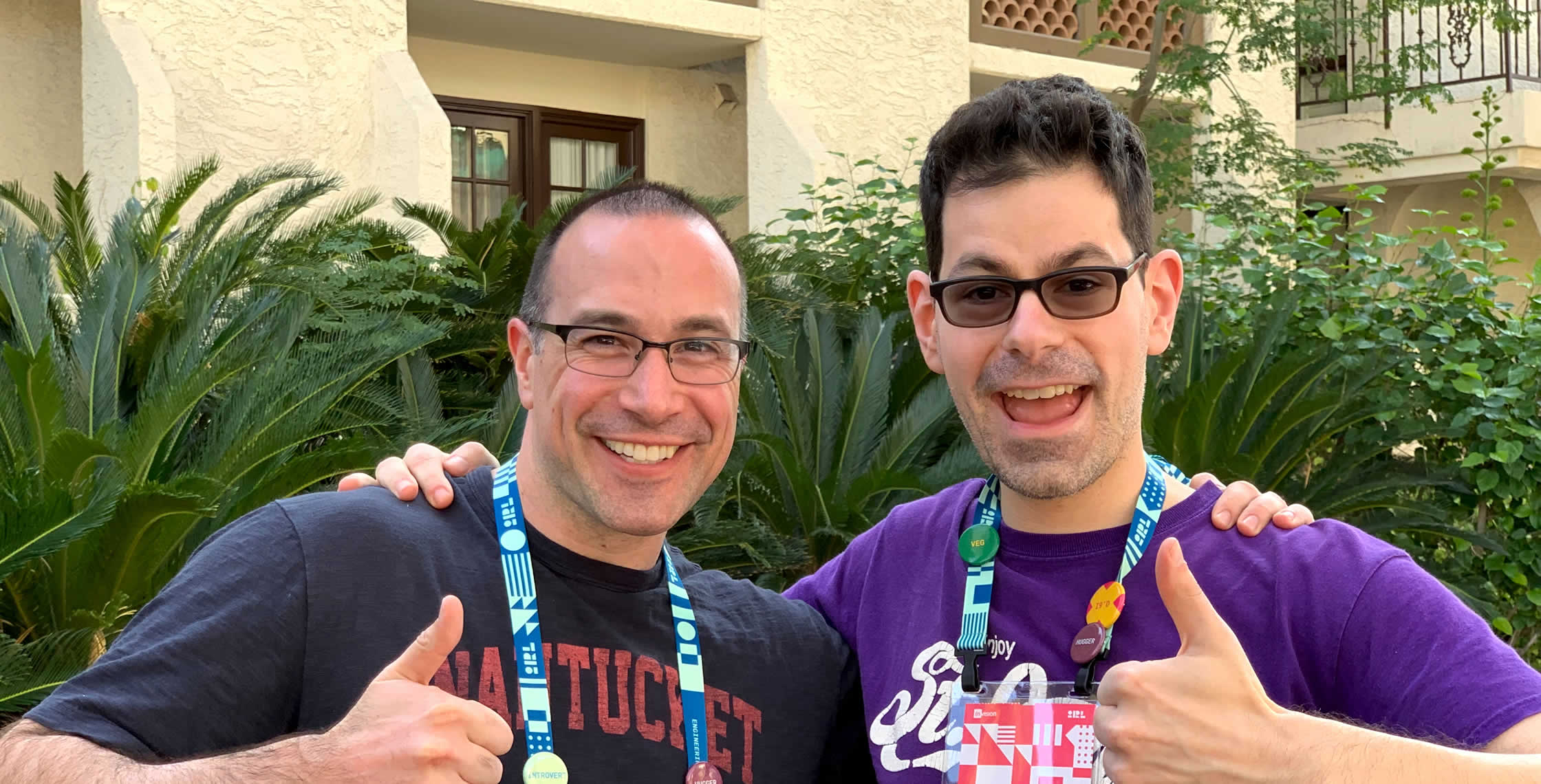 Ben Nadel at InVision In Real Life (IRL) 2019 (Phoenix, AZ) with: Adam DiCarlo