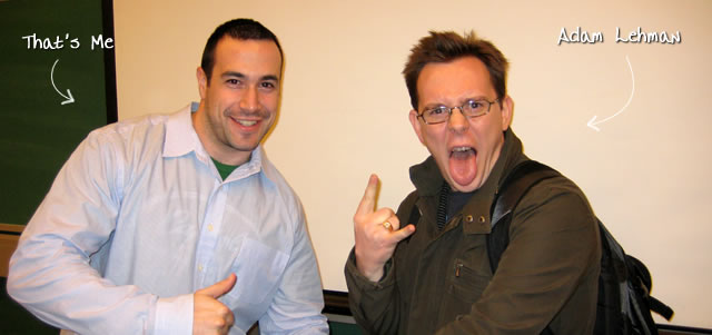 Ben Nadel at the New York ColdFusion User Group (Jan. 2008) with: Adam Lehman