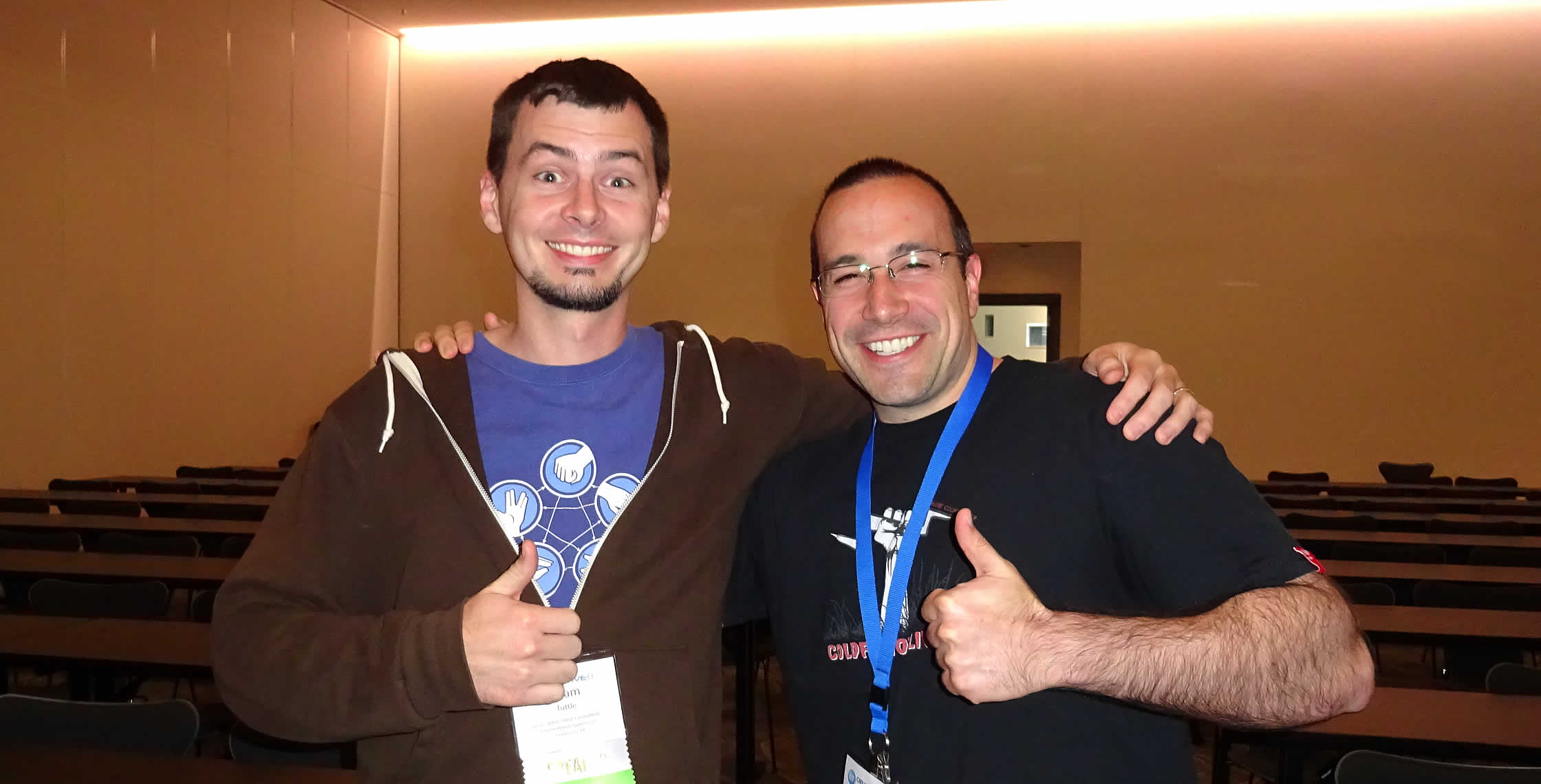 Ben Nadel at cf.Objective() 2014 (Bloomington, MN) with: Adam Tuttle