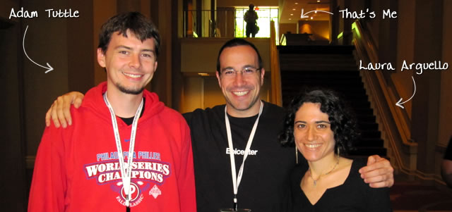 Ben Nadel at CFUNITED 2010 (Landsdown, VA) with: Adam Tuttle and Laura Arguello