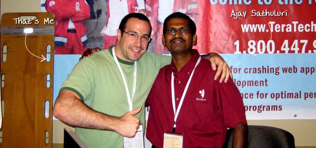 Ben Nadel at CFUNITED 2009 (Lansdowne, VA) with: Ajay Sathuluri