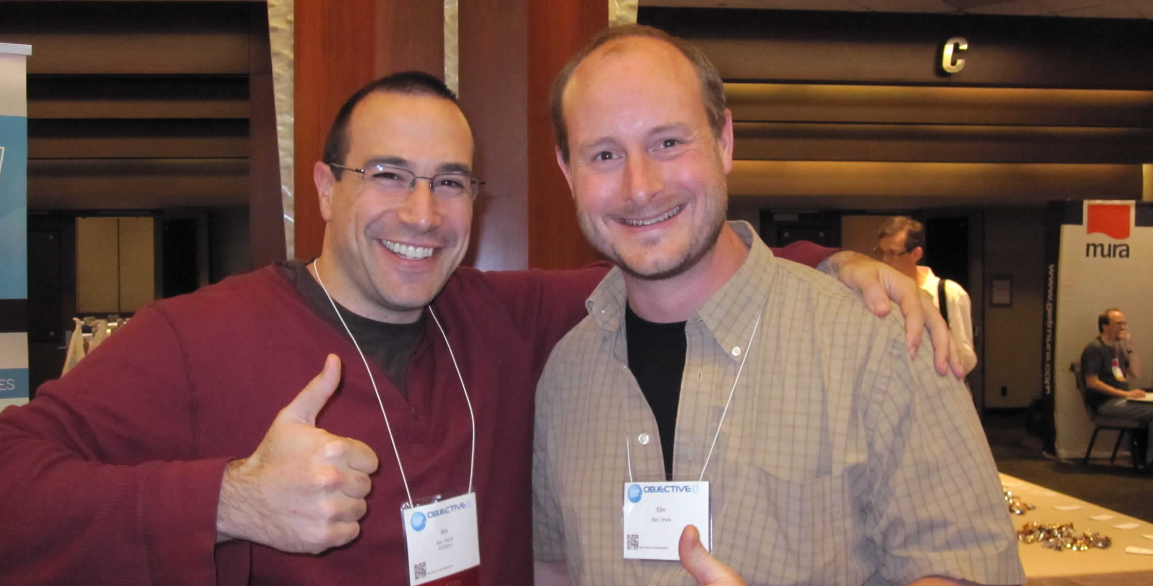 Ben Nadel at cf.Objective() 2012 (Minneapolis, MN) with: Alec Irwin