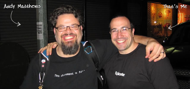 Ben Nadel at the New York ColdFusion User Group (Jun. 2010) with: Andy Matthews