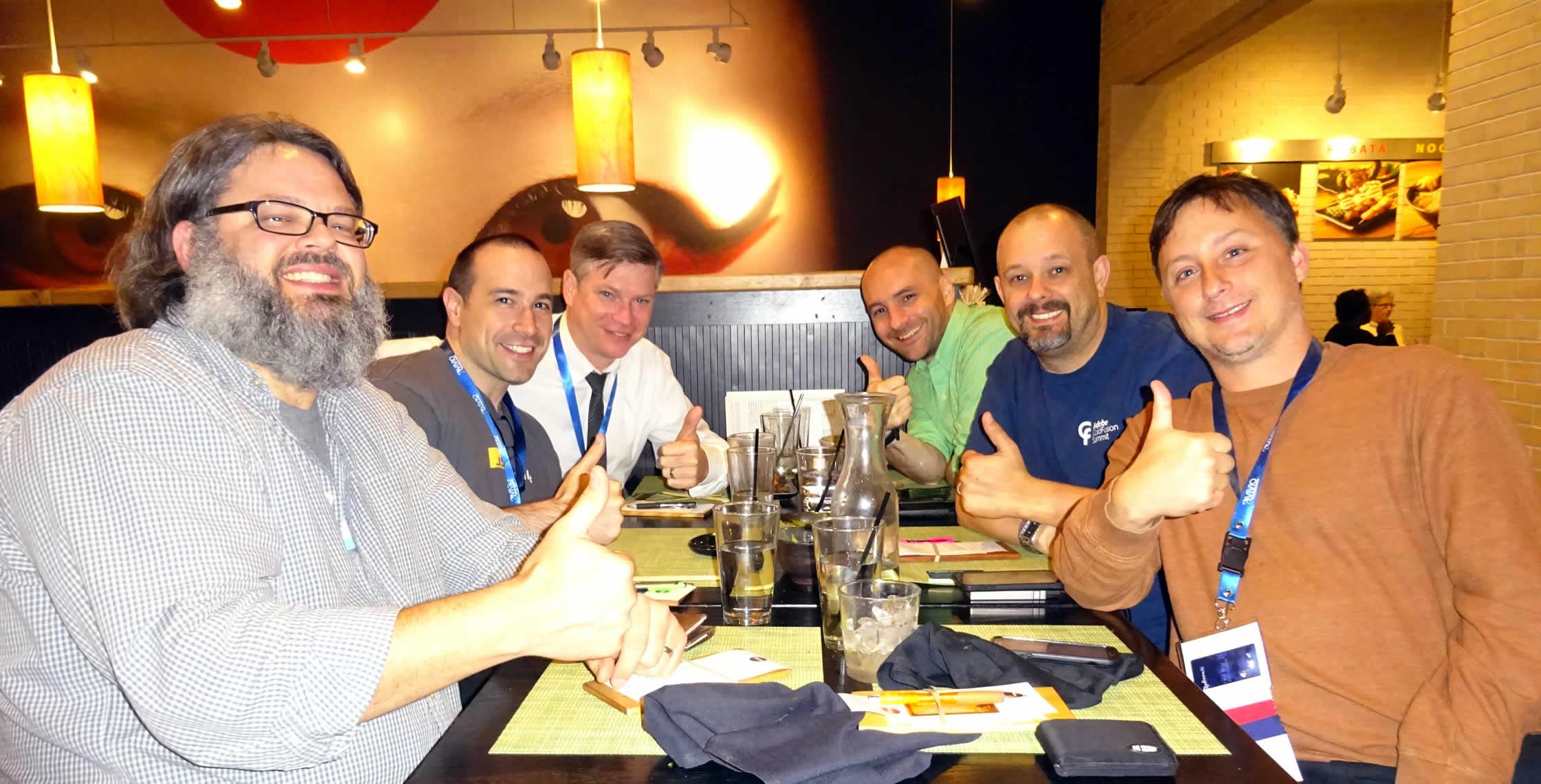Ben Nadel at dev.Objective() 2015 (Bloomington, MN) with: Andy Matthews, Tim Cunningham, Matt Gifford, Dave Ferguson, and Dan Wilson