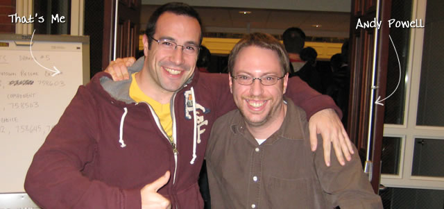 Ben Nadel at RIA Unleashed (Nov. 2009) with: Andy Powell