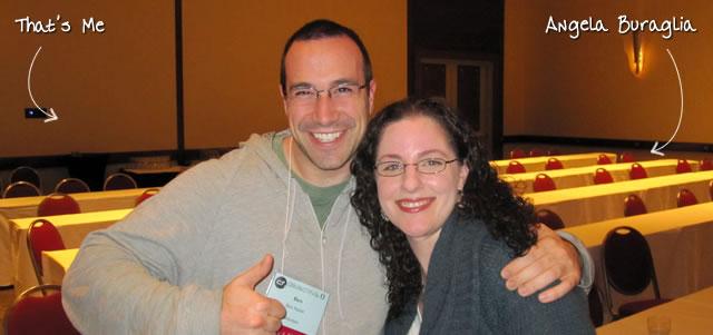 Ben Nadel at cf.Objective() 2011 (Minneapolis, MN) with: Angela Buraglia