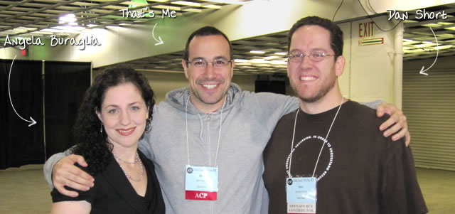 Ben Nadel at cf.Objective() 2011 (Minneapolis, MN) with: Angela Buraglia and Dan Short