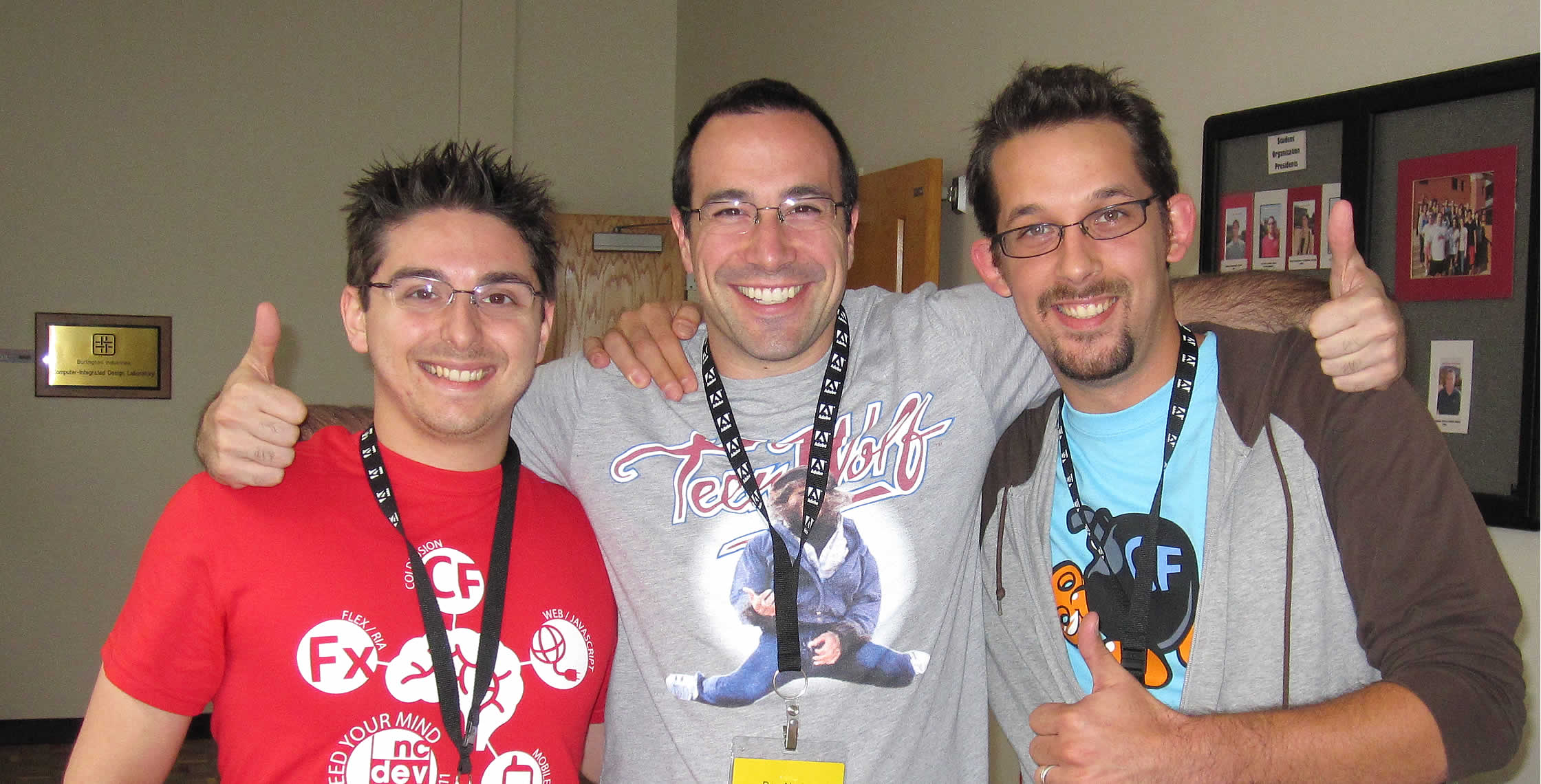 Ben Nadel at NCDevCon 2011 (Raleigh, NC) with: Anthony Mineo and Matthew Clemente