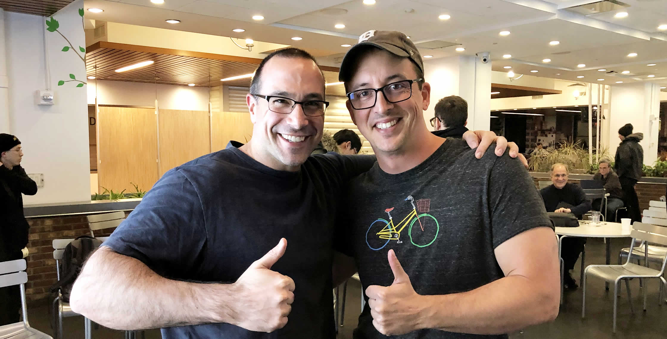 Ben Nadel at the Angular NYC Meetup (Dec. 2018) with: Ben Lesh