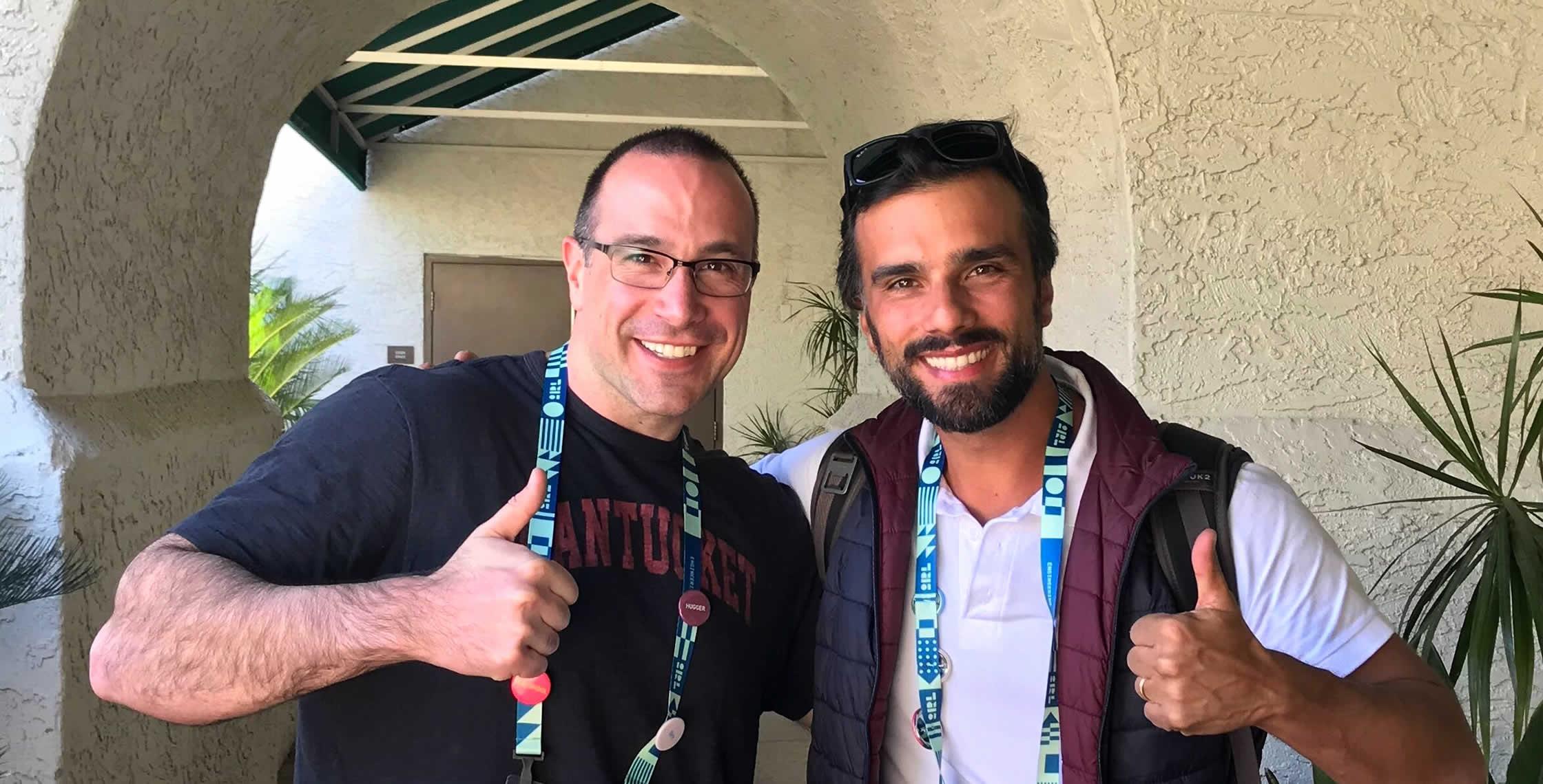Ben Nadel at InVision In Real Life (IRL) 2019 (Phoenix, AZ) with: Bernardo Sana