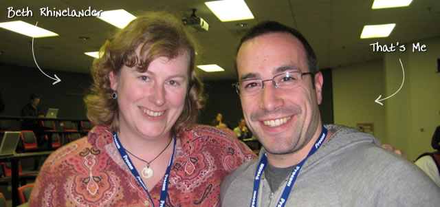 Ben Nadel at CFinNC 2009 (Raleigh, North Carolina) with: Beth Rhinelander