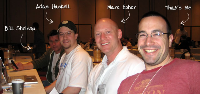 Ben Nadel at cf.Objective() 2009 (Minneapolis, MN) with: Bill Shelton, Adam Haskell, and Marc Esher