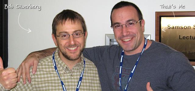 Ben Nadel at CFinNC 2009 (Raleigh, North Carolina) with: Bob Silverberg