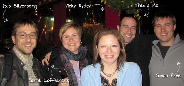 Ben Nadel at RIA Unleashed (Nov. 2010) with: Bob Silverberg, Carol Loffelmann, Vicky Ryder, and Simon Free