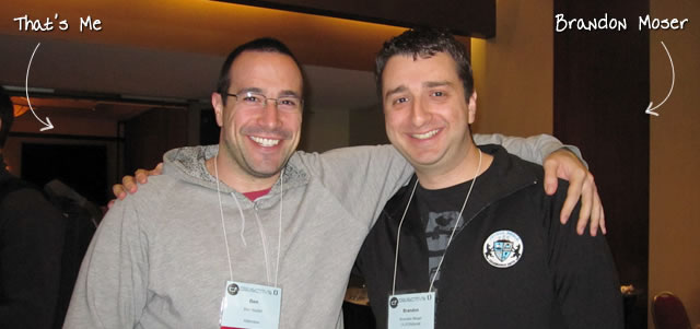 Ben Nadel at cf.Objective() 2011 (Minneapolis, MN) with: Brandon Moser