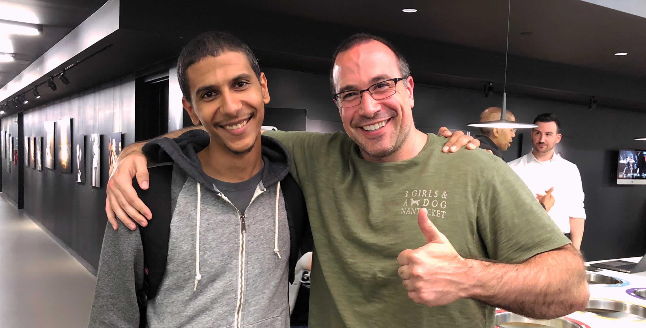 Ben Nadel at the NYC Node.js Meetup (Sep. 2018) with: Brandon Silva