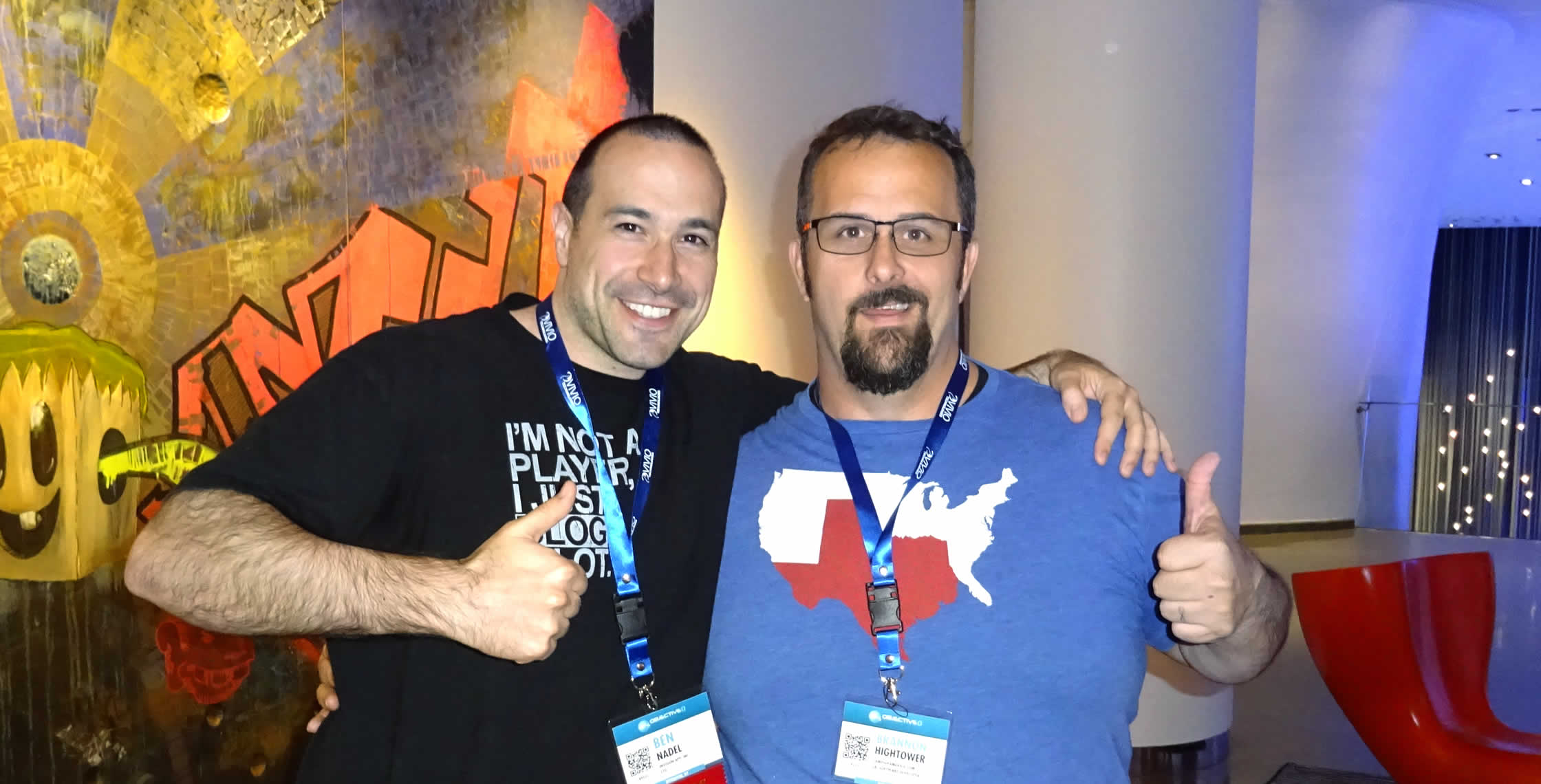 Ben Nadel at dev.Objective() 2015 (Bloomington, MN) with: Brannon Hightower