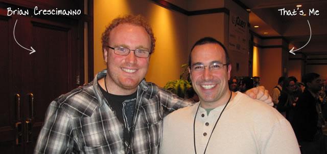 Ben Nadel at the jQuery Conference 2010 (Boston, MA) with: Brian Crescimanno