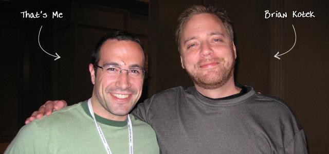 Ben Nadel at CFUNITED 2009 (Lansdowne, VA) with: Brian Kotek