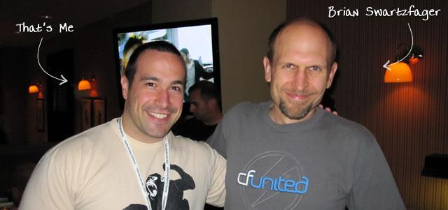 Ben Nadel at CFUNITED 2010 (Landsdown, VA) with: Brian Swartzfager
