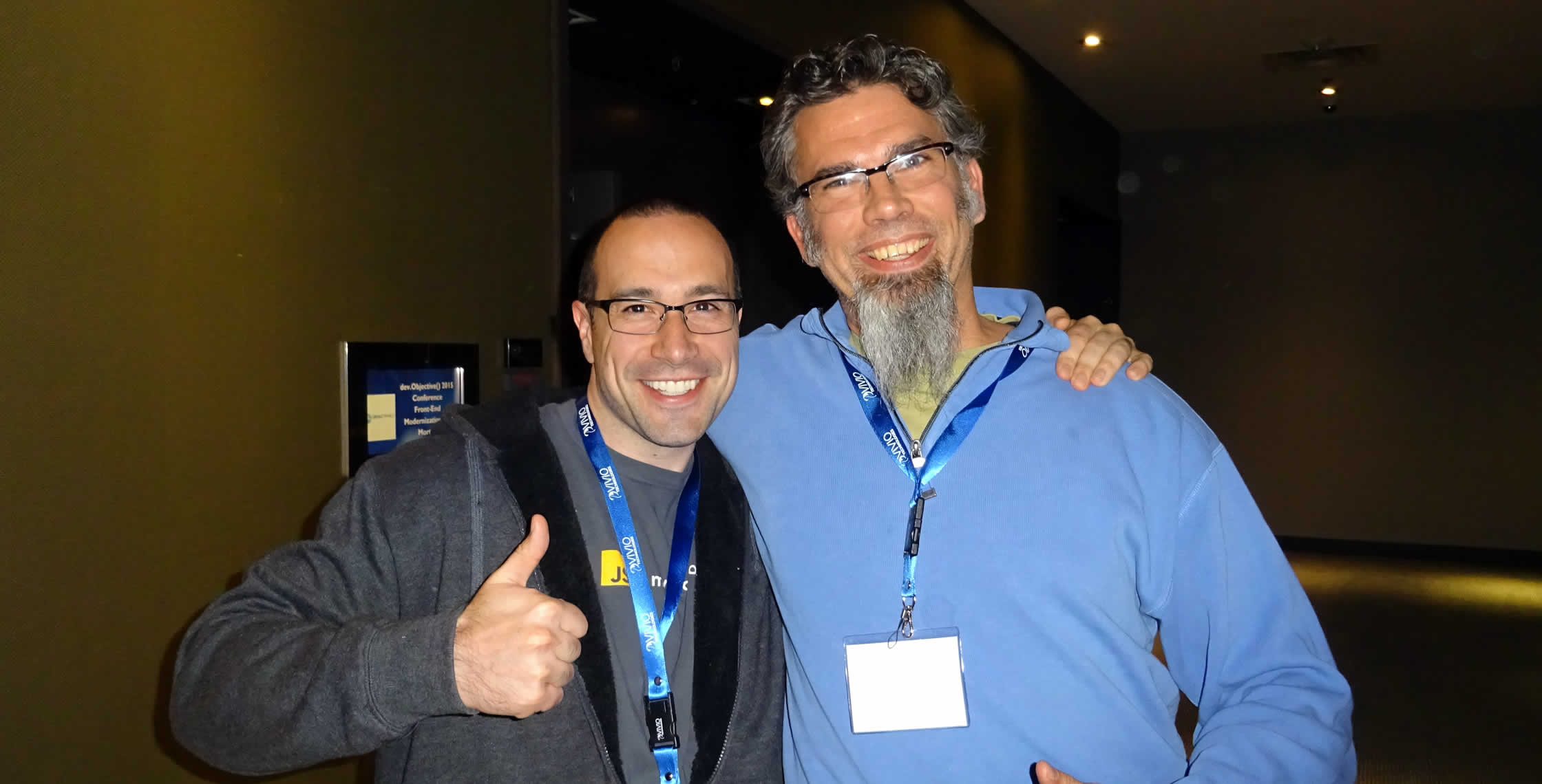 Ben Nadel at dev.Objective() 2015 (Bloomington, MN) with: Brien Hodges