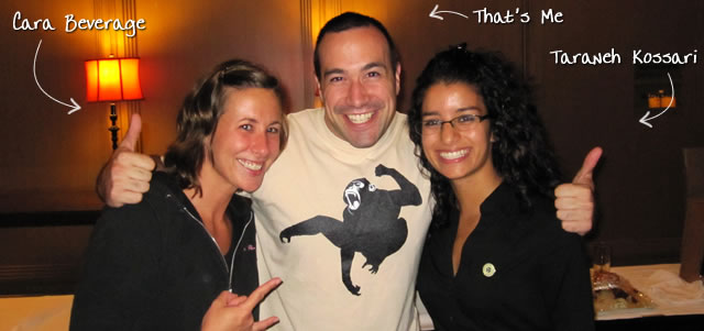 Ben Nadel at CFUNITED 2010 (Landsdown, VA) with: Cara Beverage and Taraneh Kossari