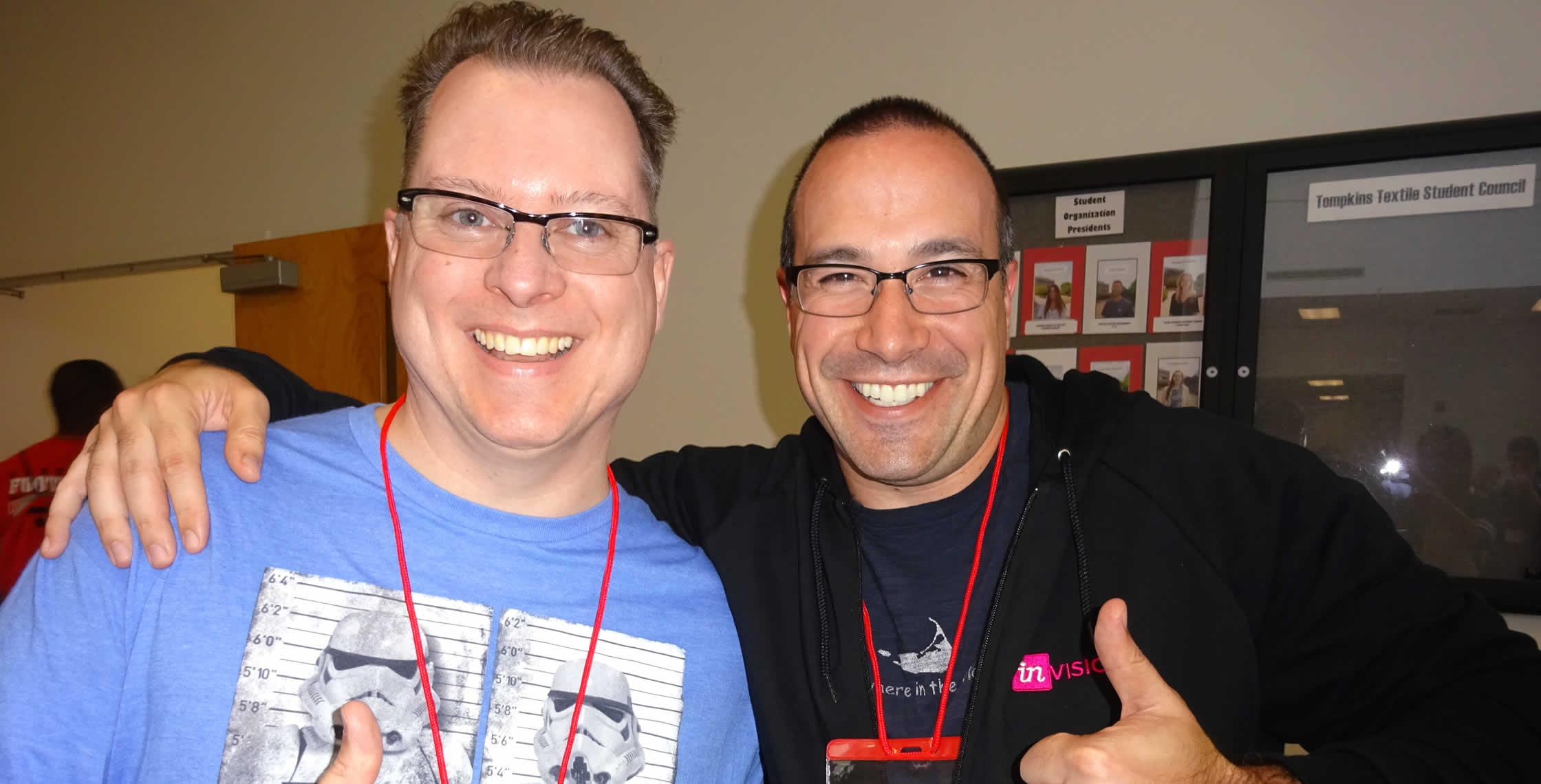 Ben Nadel at NCDevCon 2016 (Raleigh, NC) with: Carl Von Stetten