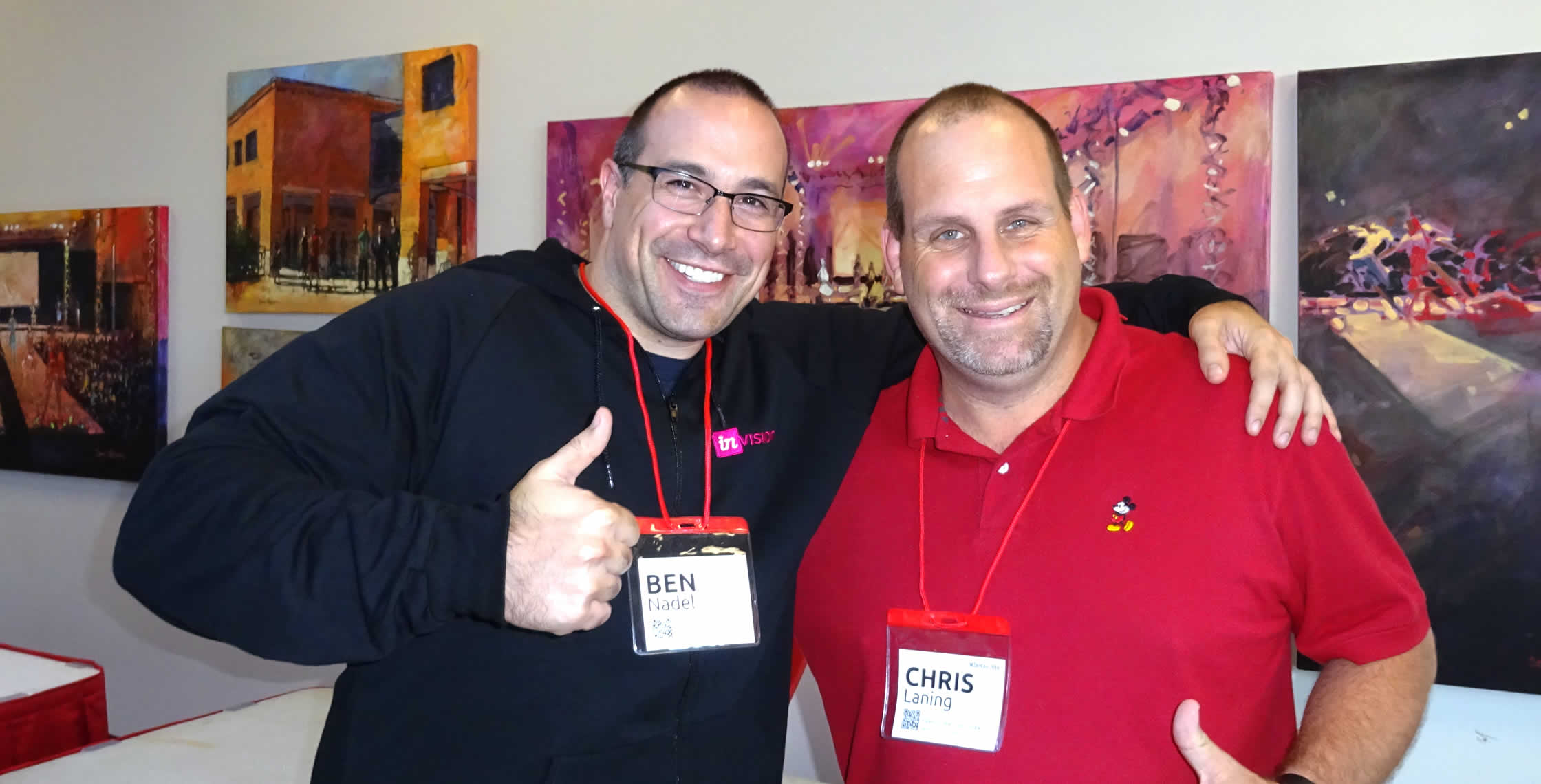 Ben Nadel at NCDevCon 2016 (Raleigh, NC) with: Chris Laning