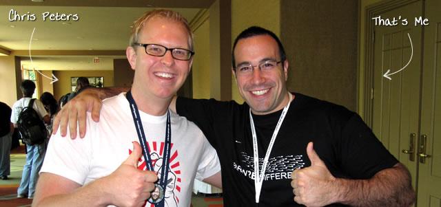 Ben Nadel at CFUNITED 2010 (Landsdown, VA) with: Chris Peters