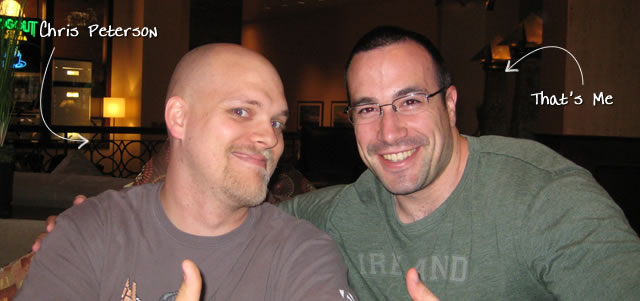 Ben Nadel at cf.Objective() 2009 (Minneapolis, MN) with: Chris Peterson