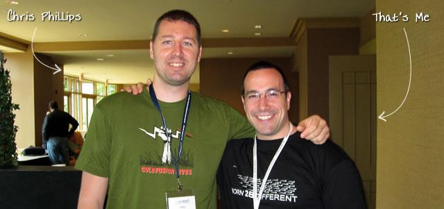 Ben Nadel at CFUNITED 2010 (Landsdown, VA) with: Chris Phillips