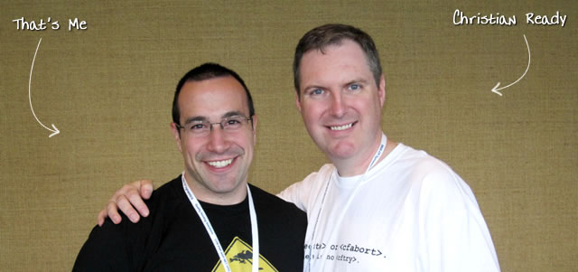 Ben Nadel at CFUNITED 2010 (Landsdown, VA) with: Christian Ready