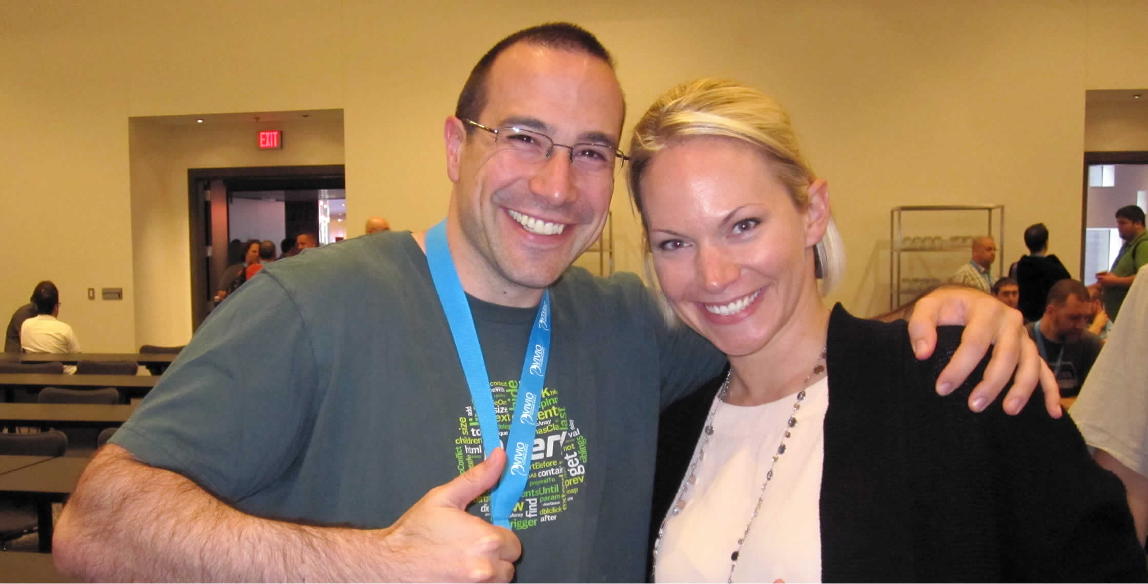 Ben Nadel at cf.Objective() 2013 (Bloomington, MN) with: Christine Dohmen