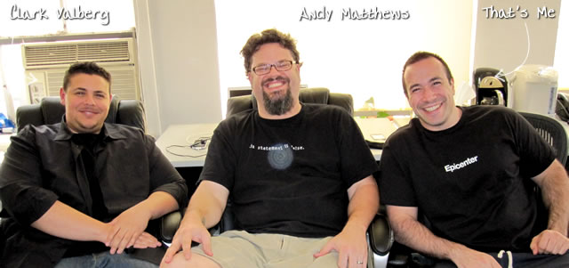 Ben Nadel at the New York ColdFusion User Group (Jun. 2010) with: Clark Valberg and Andy Matthews