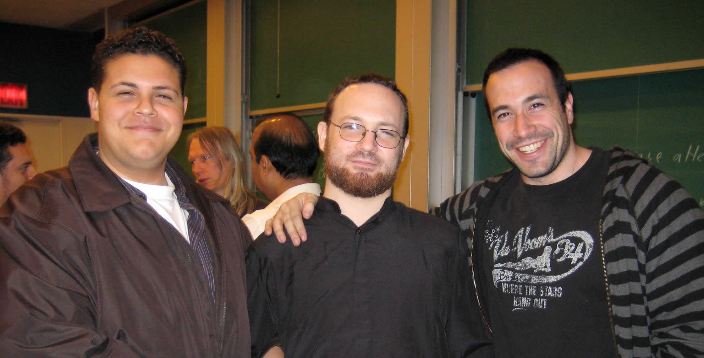 Ben Nadel at the New York ColdFusion User Group (May. 2008) with: Clark Valberg and Michael Dinowitz
