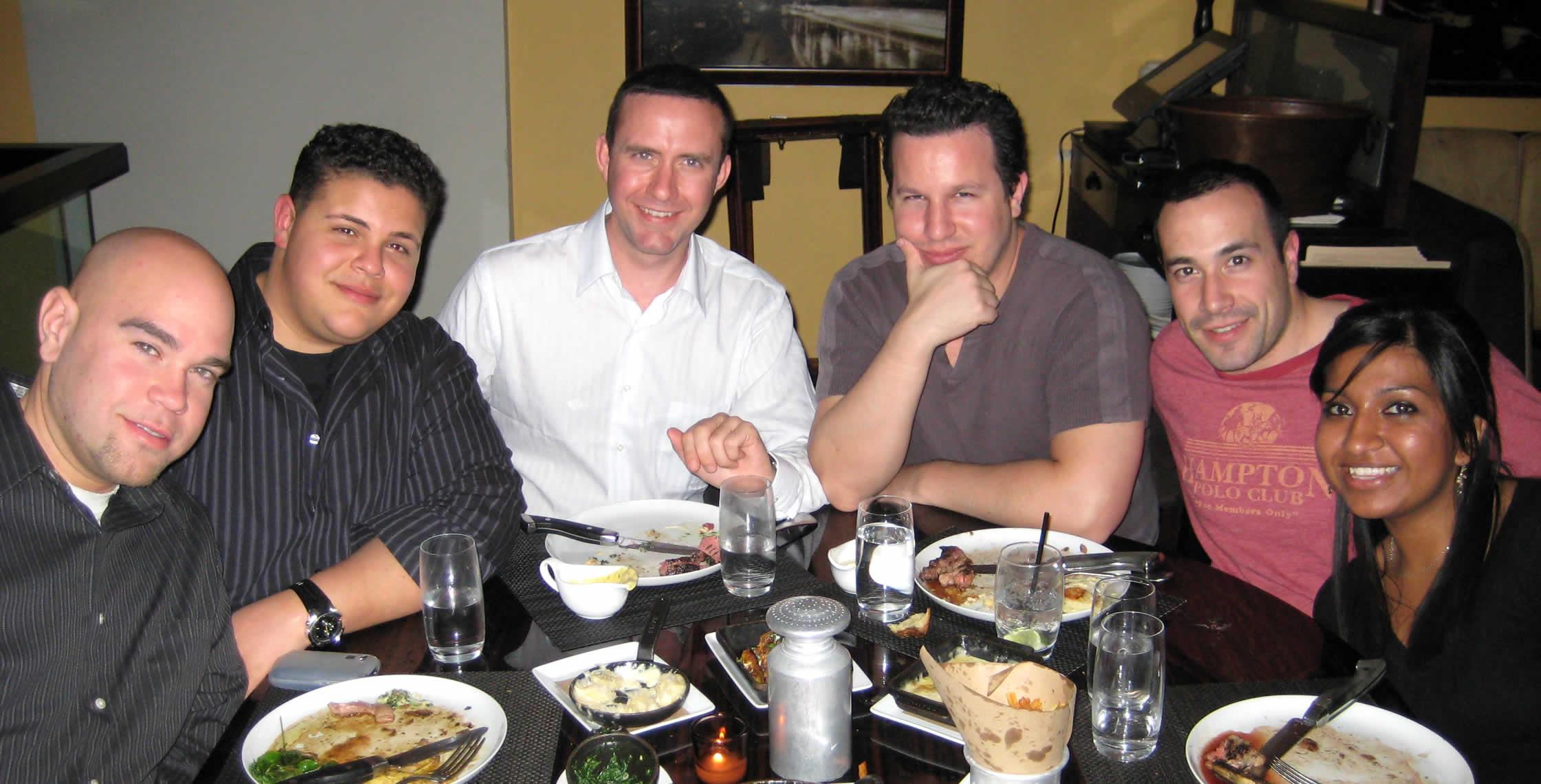 Ben Nadel at the New York ColdFusion User Group (Apr. 2008) with: Clark Valberg, Peter Bell, Rob Gonda, and Nafisa Sabu