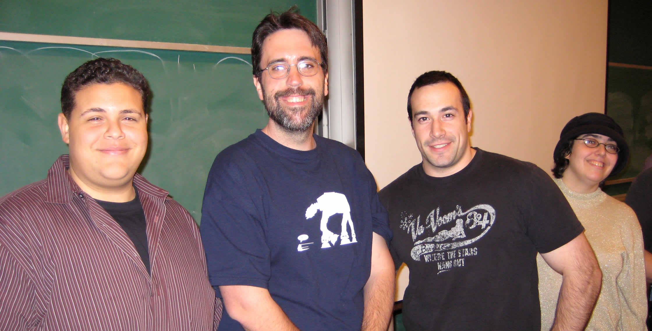 Ben Nadel at the New York ColdFusion User Group (Feb. 2008) with: Clark Valberg, Ray Camden, and Judith Dinowitz