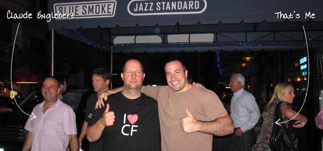 Ben Nadel at Blue Smoke (New York City, NY) with: Claude Englebert