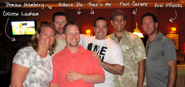 Ben Nadel at CFUNITED 2010 (Landsdown, VA) with: Colleen Lanham, Demian Holmberg, Robert Dix, Paul Carney, and Eric Pfleckl