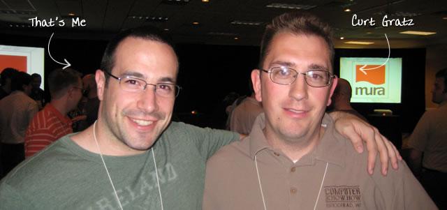 Ben Nadel at cf.Objective() 2009 (Minneapolis, MN) with: Curt Gratz