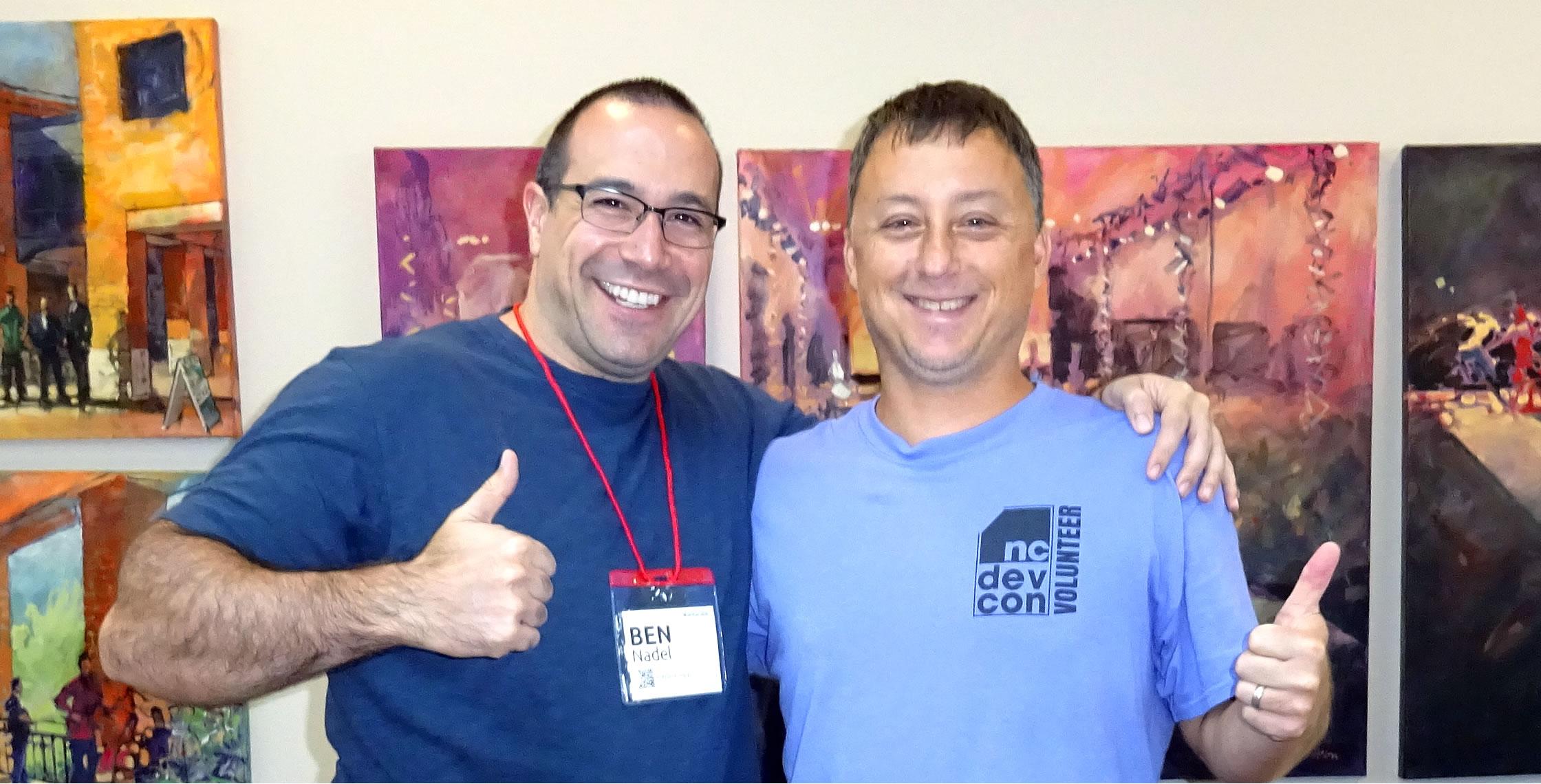 Ben Nadel at NCDevCon 2016 (Raleigh, NC) with: Dan Wilson