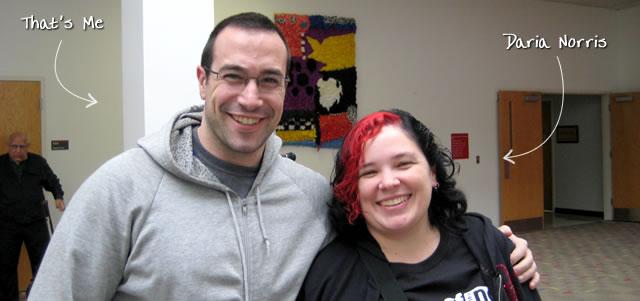 Ben Nadel at CFinNC 2009 (Raleigh, North Carolina) with: Daria Norris
