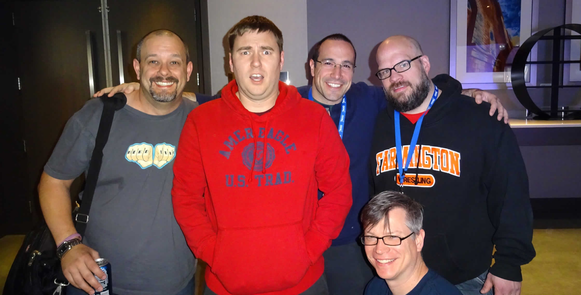 Ben Nadel at cf.Objective() 2014 (Bloomington, MN) with: Dave Ferguson, Simon Free, Tim Cunningham, and Jason Dean