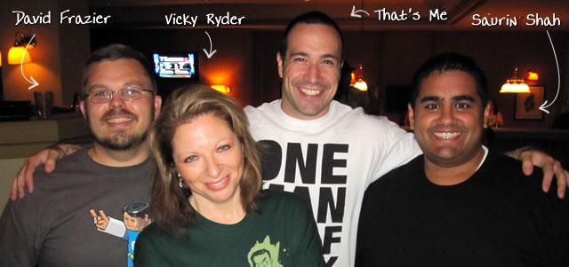 Ben Nadel at CFUNITED 2010 (Landsdown, VA) with: David Frazier, Vicky Ryder, and Saurin Shah